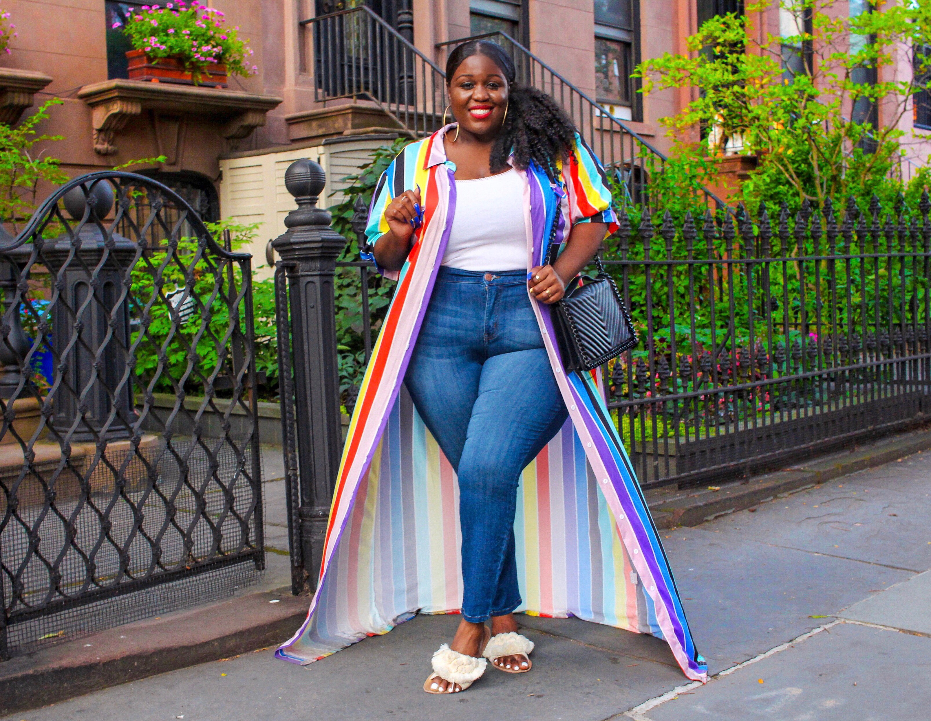 How to Style a Plus Size Maxi Shirt Dress - On The Q Train